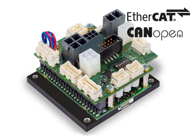 Positioning controllers for brushed DC and brushless DC (maxon EC) motors with encoders