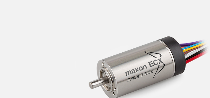 The electronically commutated maxon EC motors stand out with excellent torque characteristics, high power, an extremely wide speed range, and an outstandingly long life span